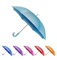 Umbrellas color set EPS 10 vector image