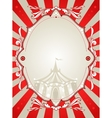 Vintage circus background vector image
