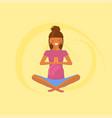 yoga for pregnant women vector image
