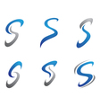 S letter logo Template vector image