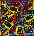 cassette background vector image vector image