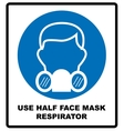 Gas half mask icon in simple style isolated on vector image