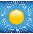 summer blue sky and sun vector image vector image
