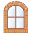 wooden window on brick wall vector image vector image