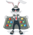 Funny Rabbit with Contraband Easter Eggs Cartoon vector image vector image