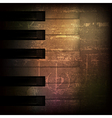 abstract brown grunge music background with piano vector image