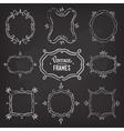 Set of 9 cute vintage chalk frames vector image