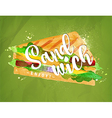 Burger sandwich green vector image