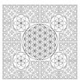 circle outline flower of life fractal geometry vector image