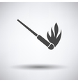 Burning matchstik icon vector image