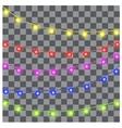 Christmas lights on black background vector image