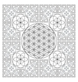 circle outline flower of life fractal geometry vector image