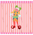 clown juggling colorful playing card vector image