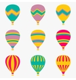 Colorful air balloon on white background vector image