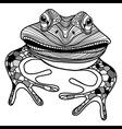 Frog animal head symbol for mascot or emblem desig vector image