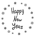 Happy New 2016 Year Holiday With Lettering vector image