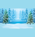 horizontal seamless background with winter vector image