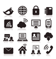 Icon communication vector image