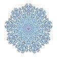 Mandala pattern blue background vector image