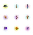 Tourism in Australia icons set pop-art style vector image