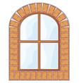 wooden window on brick wall vector image