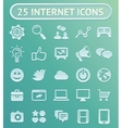 25 internet icons vector image