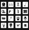 magic icons set squares vector image