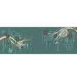 Panorama with branches and flowers vector image vector image