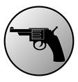 Gun button vector image