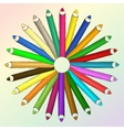 Arts concept with pencils vector image vector image