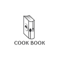 cook book design template vector image