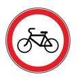 no bicycle sign vector image