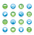 business and office internet icons vector image vector image
