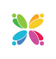 abstract circle colorful logo image vector image