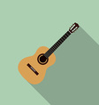 Acoustic guitar flat design vector image