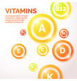 colourful vitamin background vector image