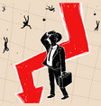 crisis financial on stock exchange vector image