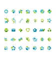 Different abstract trendy symbols vector image