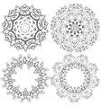 Mandalas in graphic style vector image