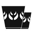 mug icon simple style vector image