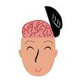 open head icon vector image