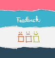 Retro Torn Paper Feedback Background vector image