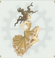 Victorian steampunk girl vector image