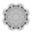 Mandala doodle drawing floral ornament ethnic vector image