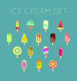 collection of 16 ice cream vector image