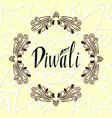 happy diwali text design happy diwali card vector image