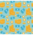 money pattern vector image vector image
