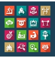 flat business success icons set vector image vector image