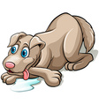 A tired dog vector image
