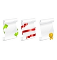 scroll white paper with ribbon vector image
